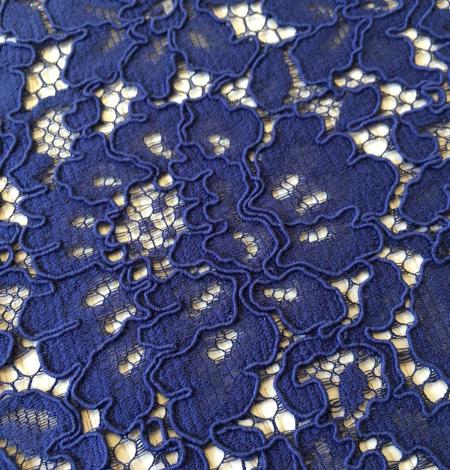 Dark blue lace fabric. Photo 6