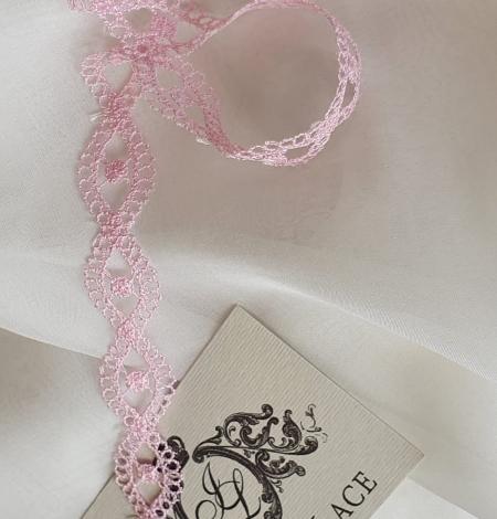 Rozā macrame mežģīnes apdare. Photo 1