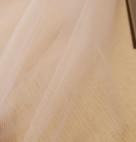 Bēšs smalkas struktūras tilla audums no Itālijas. Photo 2