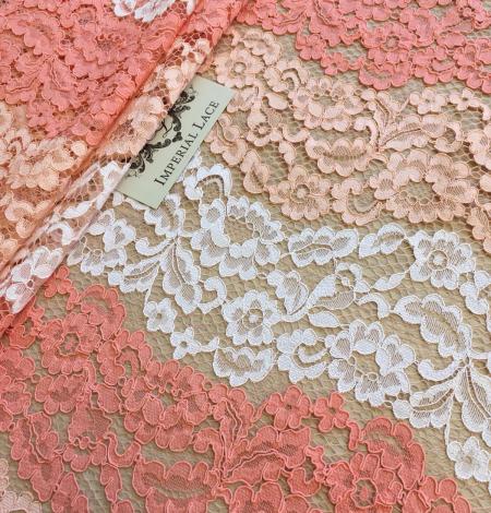 Multicolor lace fabric. Photo 2