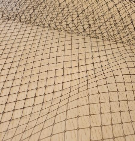 Melnas cepures tīkla tilla audums. Photo 9