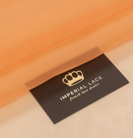 Oranžs zīda organzas audums. Photo 1