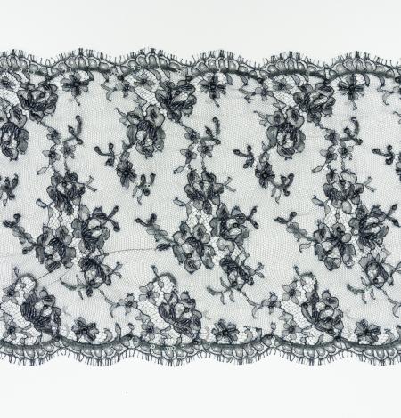 Zili melna ar rokām pērļota chantilly mežģīņu mala. Photo 7