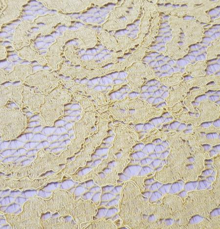 Yellow lace fabric. Photo 5