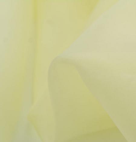 Citrona dzeltens zīda organzas audums. Photo 7