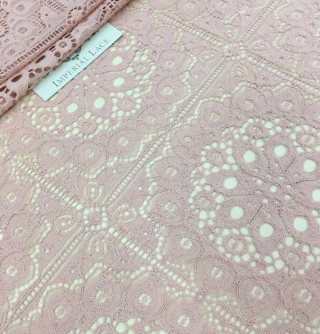 Old rose lace fabric, French Lace. Photo 2