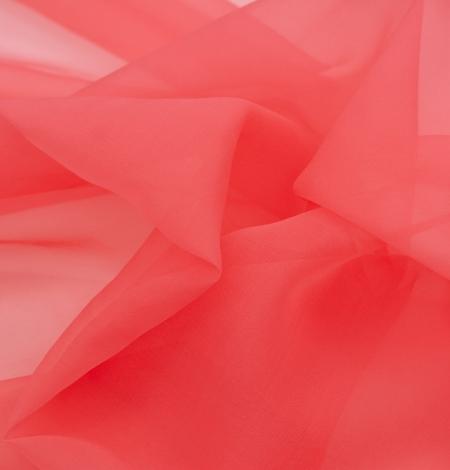 Koraļļu oranžs zīda organzas audums. Photo 5
