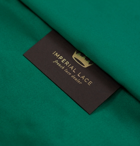 Rubīna zaļš zīda duchess audums. Photo 2