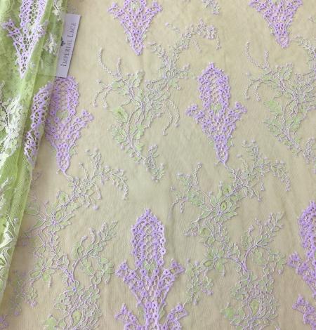 Zaļa ar Lavandu Chantilly Mežģīne. Photo 1