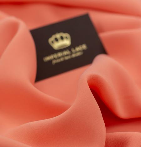 Persiku krāsas zīda krepa audums. Photo 7