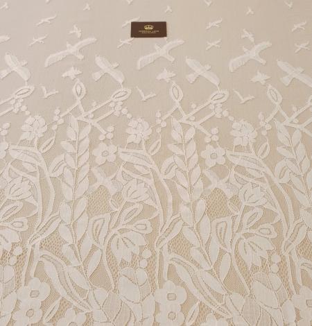 Ziloņkaula puķaina Chantilly mežģine. Photo 10