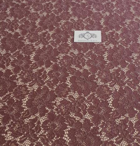 Reddish brown guipure lace fabric. Photo 6