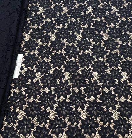 Black lace fabric. Photo 1