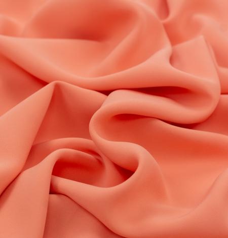 Persiku krāsas zīda krepa audums. Photo 4