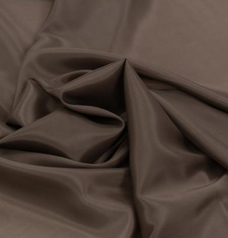 Brūns viskozes ar elastānu oderes audums. Photo 4