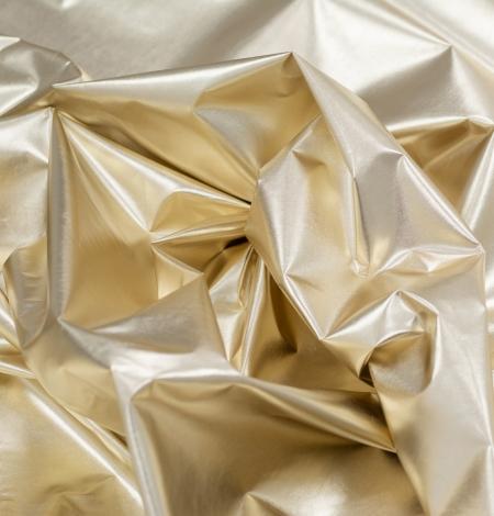 Zelta krāsas spīdīgs lietusmēteļu audums. Photo 4