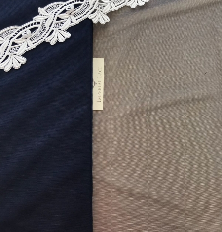 Tumši zils tilla audums. Photo 5