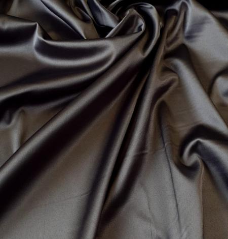 Tumši pelēks satīna audums ar elastānu. Photo 1