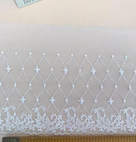 Piena balta elastīga mežģīnes maliņa. Photo 5