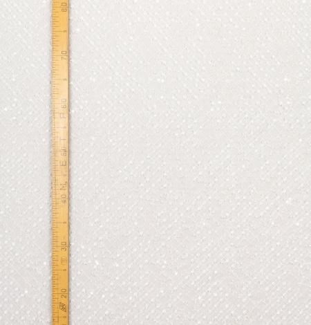 Piena balts pērļots tīkla raksts uz tilla auduma. Photo 5