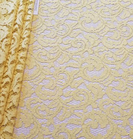 Yellow lace fabric. Photo 6