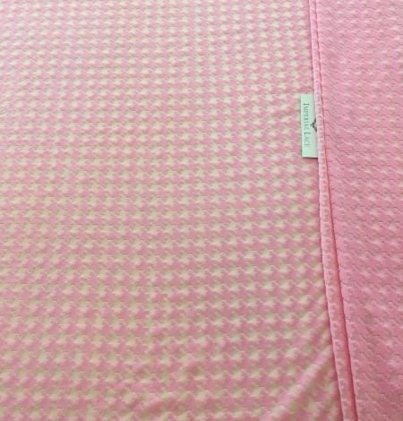 Pink velvet tulle fabric. Photo 2