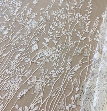 Ziloņkaula organisks ziedu izšuvums uz ttilla auduma. Photo 6