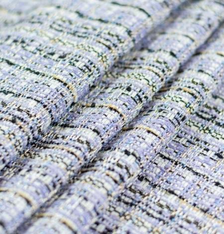 Violets ar zilu nokrāsu ar daudzkrāsainu tvīda audumu. Photo 4