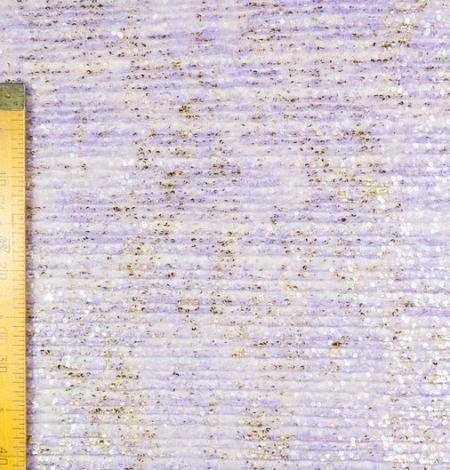 Violets gofrēts mežģīņu audums ar zelta fliteriem. Photo 8