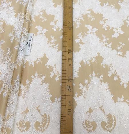 Dark beige lace fabric. Photo 9