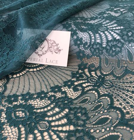 Tumši Zaļa Chantilly Mežģīne. Photo 1
