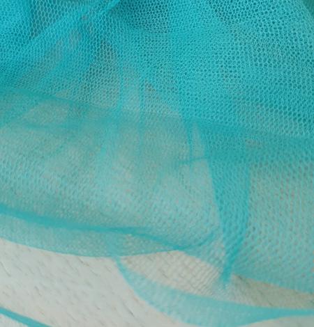 Tirkīza krāsas zīda tilla audums. Photo 8