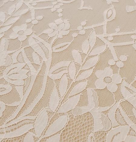 Ziloņkaula puķaina Chantilly mežģine. Photo 7