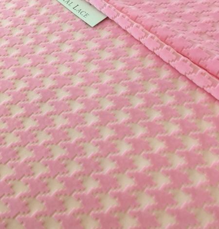 Pink velvet tulle fabric. Photo 5
