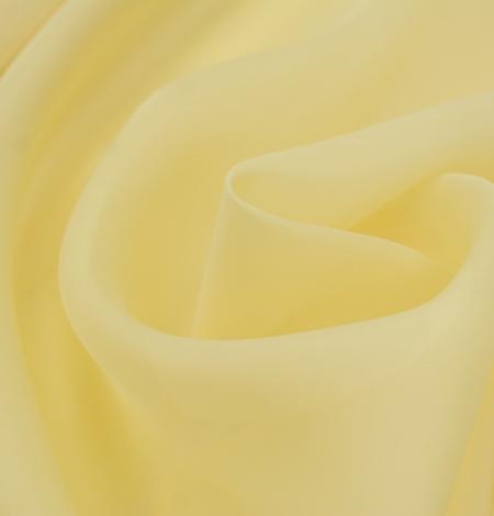 Gaiši dzeltens zīda organzas audums. Photo 5