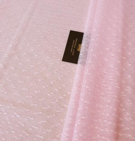 Viegli rozā pumpiņu tilla audums. Photo 2