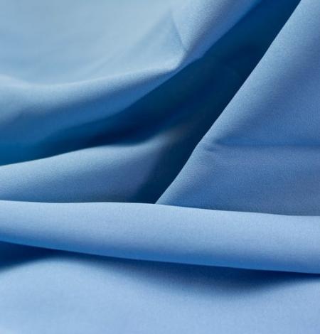 Zils zīda un elastāna krepa audums. Photo 3