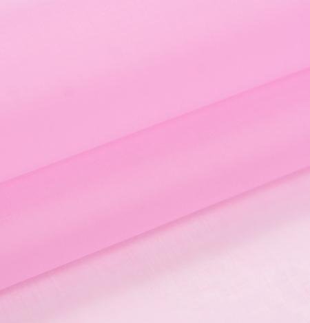 Bubble gum rozā zīda organzas audums. Photo 6