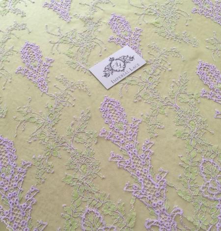 Zaļa ar Lavandu Chantilly Mežģīne. Photo 3