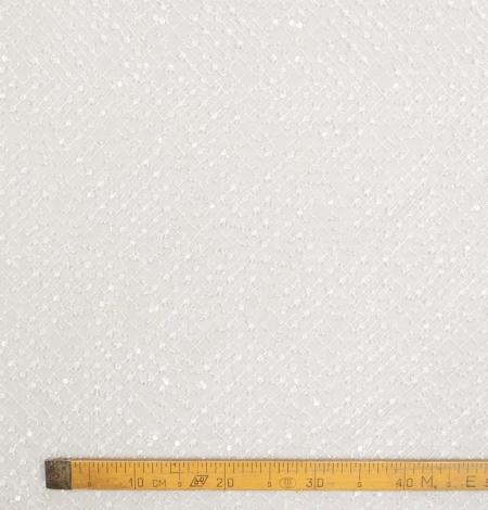 Piena balts pērļots tīkla raksts uz tilla auduma. Photo 8