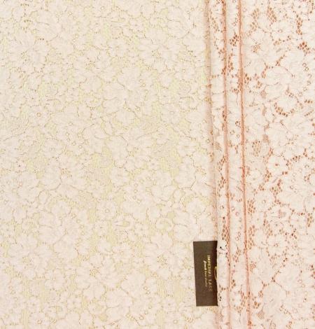 Rozā ziedu raksta guipure mežģīņu audums. Photo 7