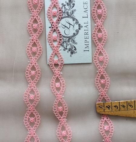 Gaiši rozā macrame mežģīnes maliņa. Photo 4