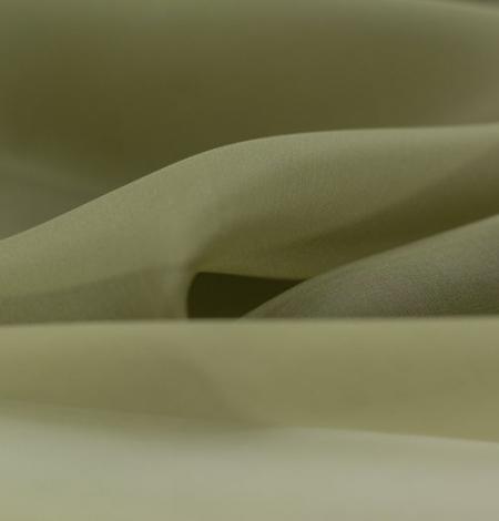 Olīvu zaļš zīda organzas audums. Photo 5