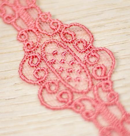 Koraļļu rozā macrame mežģīņu mala. Photo 4