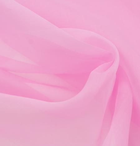 Bubble gum rozā zīda organzas audums. Photo 4