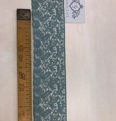 Zilganzaļi pelēka kokvilnas mežģīnes maliņa. Photo 7