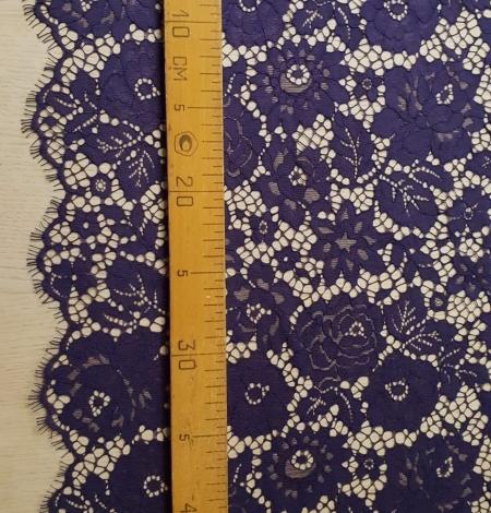 Lilac guipure lace fabric. Photo 7