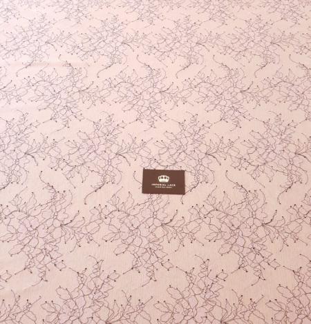 Ceriņu rozā ar melnu diegu Chantilly mežģīne. Photo 9