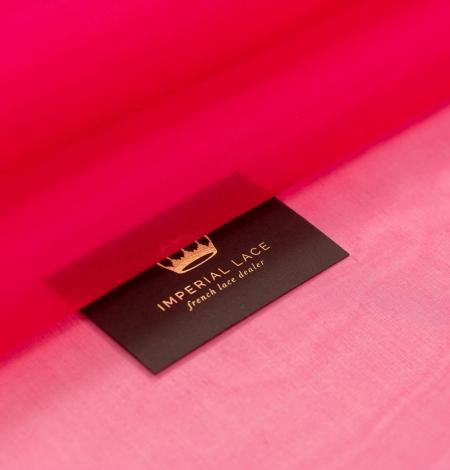 Fuksijas rozā zīda organzas audums. Photo 1