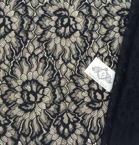 Melna Chantilly mežģīne. Photo 3